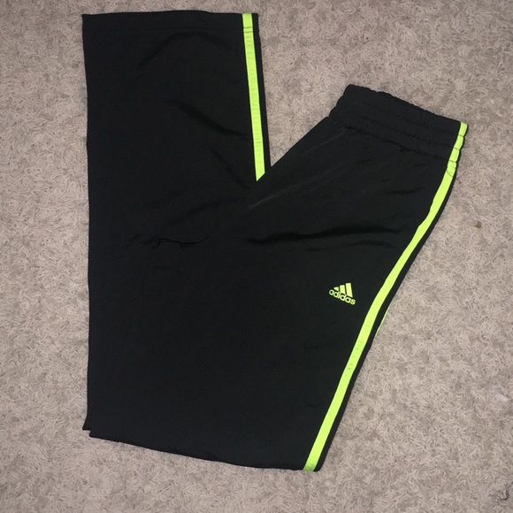 Shipley destacar dieta  adidas Pants & Jumpsuits | Neon Greenyellow Adidas Track Suit Pants Juniors  | Poshmark